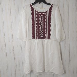 ALTAR'D STATE White Embroidered Mini Dress Tunic